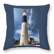 Absecon Lighthouse 2 - Atlantic City Throw Pillow