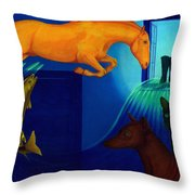 Absence. Throw Pillow