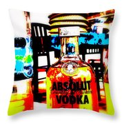 Absolut Gasoline Refills For Bali Bikes Throw Pillow