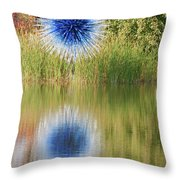 Abstact Sphere Over Water Throw Pillow