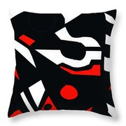 Abstrac7-30-09 Throw Pillow