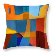 Abstract # 2 Throw Pillow by Elena Nosyreva