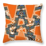 Abstract # 2060ew4bc Throw Pillow