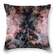 Abstract - Colorful Bubbles Throw Pillow