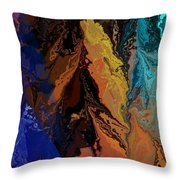 Abstract 010811 Throw Pillow