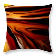 Abstract 02-12-10 Throw Pillow