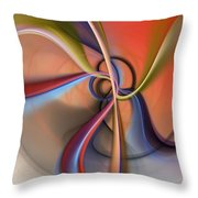 Abstract 0414111 Throw Pillow