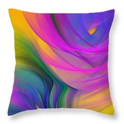 Abstract 060611b Throw Pillow