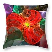 Abstract 061710a Throw Pillow