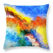 Abstract 070411 Throw Pillow