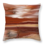 Abstract 080210 Throw Pillow