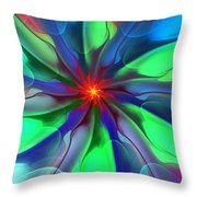 Abstract 080610c Throw Pillow