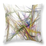 Abstract 10-16-09-2 Throw Pillow