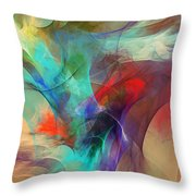 Abstract 103010 Throw Pillow