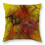 Abstract 103110 Throw Pillow