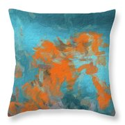 Abstract 104 Digital Oil Painting On Canvas Full Of Texture And Brig Throw Pillow