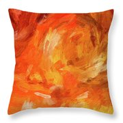 Abstract 106 Digital Oil Painting On Canvas Full Of Texture And Brig Throw Pillow