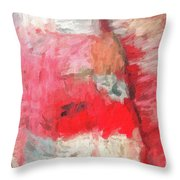 Abstract 107 Digital Oil Painting On Canvas Full Of Texture And Brig Throw Pillow
