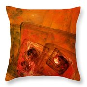 Abstract 110810g Throw Pillow