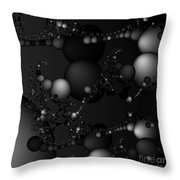 Abstract 119 Bw Throw Pillow