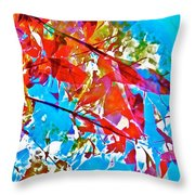 Abstract 128 Throw Pillow