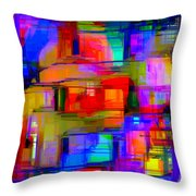 Abstract 1293 Throw Pillow