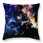 Abstract 134 Digital Oil Painting On Canvas Full Of Texture And Brig Throw Pillow