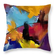 Abstract 1412 Throw Pillow