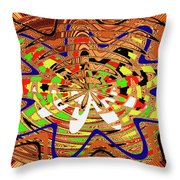 Abstract #1859drawpc Throw Pillow