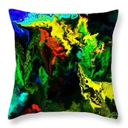 Abstract 2-23-09 Throw Pillow