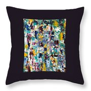 Abstract 2018-02 Throw Pillow