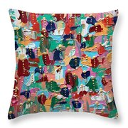 Abstract 2018-04 Throw Pillow