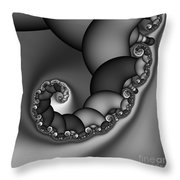 Abstract 210 Bw Throw Pillow