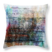 2e Abstract Expressionism Digital Painting Throw Pillow