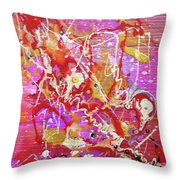 Abstract 304 Throw Pillow