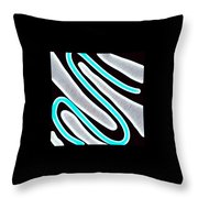 Abstract 35 Silver Blue Turquoise Throw Pillow