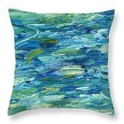 Abstract 366 Throw Pillow