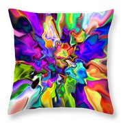 Abstract 373 Throw Pillow