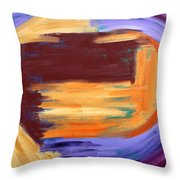 Abstract 413 Throw Pillow