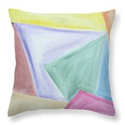 Abstract 437 Throw Pillow