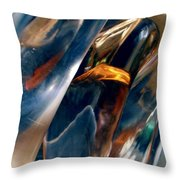 Abstract 490 Throw Pillow