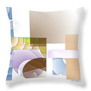 Abstract #503 Throw Pillow