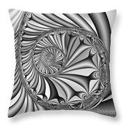 Abstract 527 Bw Throw Pillow