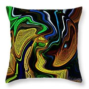 Abstract 6-10-09-a Throw Pillow