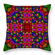 Abstract 652 Throw Pillow