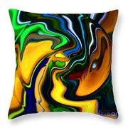 Abstract 7-10-09 Throw Pillow