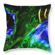 Abstract 7-25-09-1 Throw Pillow