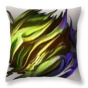 Abstract 7-26-09-a Throw Pillow