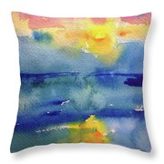 Floating In Blue Throw Pillow