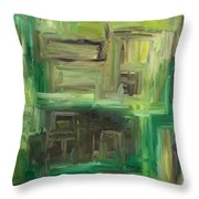 Abstract 742 Throw Pillow